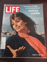 Vintage Life Magazine August 11, 1961 Sophia Loren On Cover Excellent Cond