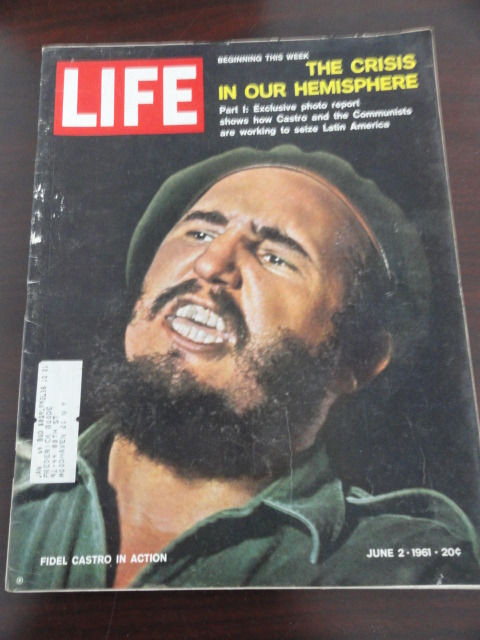 Vtg Life Magazine June 2, 1961 Fidel Castro In Action Walter Mittey On Cover