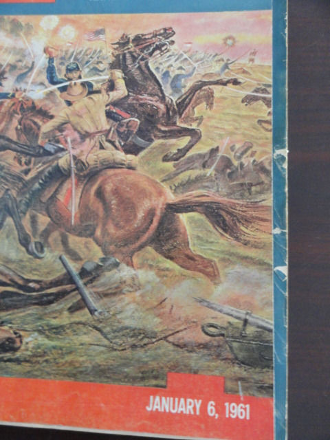 Vintage Life Magazine January 6, 1961 The Civil War On Cover Excellent Cond