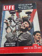 Vintage Life Magazine  January 19, 1959 Castro In Triumphant on Cover