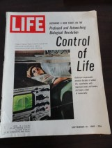 Vintage Life Magazine September 10, 1965 Control of Life On Cover Excellent Cond