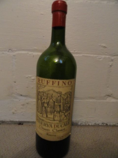 "RUFFINO Chianti Classico Dummy Display Wine Empty Glass Bottle 18"" Corked"