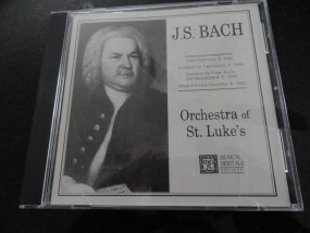 Vtg Musical Heritage Society Classical J. S. Bach Orchestra of St. Luke's CD