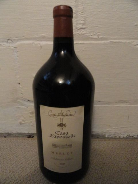 "CUVEE ALEXANDRE MERLOT 2000 Dummy Display Wine Empty Glass Bottle 14"" Corked"