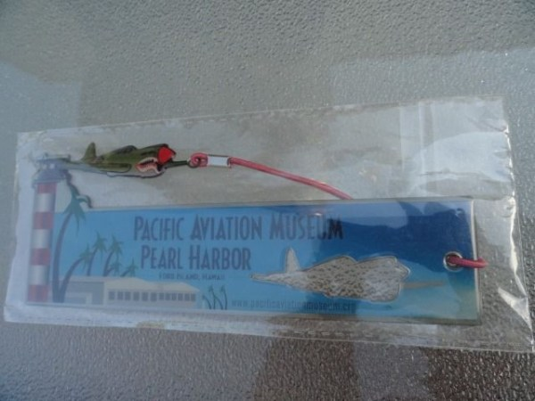 """Pacific Aviation Museum 6"""" Bookmark Flying Tiger Plane Ford Island Hawaii"""