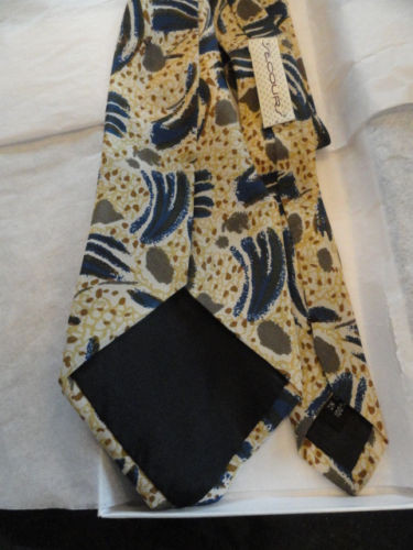 Vintage Men's Abstract SECOURS Tie Multi Colored Handmade In China 100% Silk