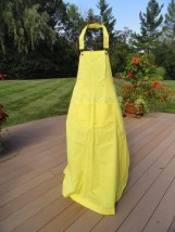 Vintage 60's Yellow IN GOOD COMPANY San Francisco Smock Apron Neck Clasp NWOT