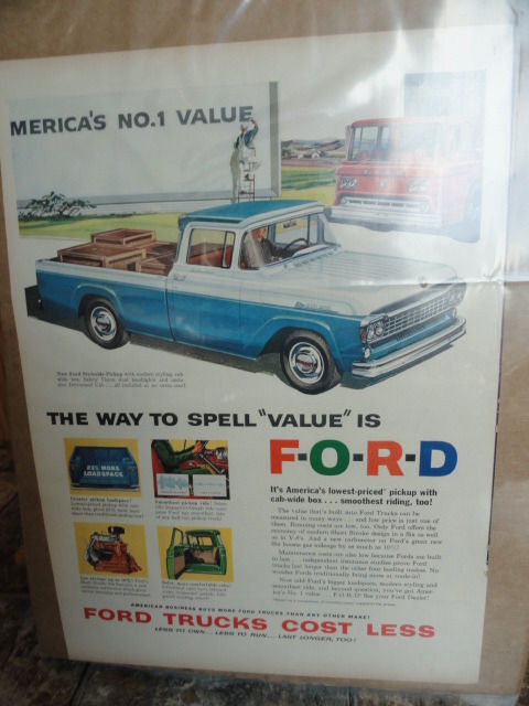 """Vintage Ford The Way To Spell """"Value"""" Is F-O-R-D Ford Style Pickup Advertisement"""