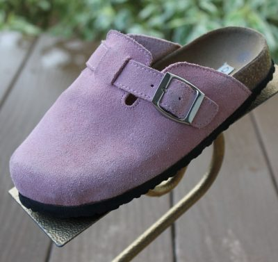Girl's Cherokee Brand Shoes Slip On Pink Silver Buckle Size 2  Great Condition