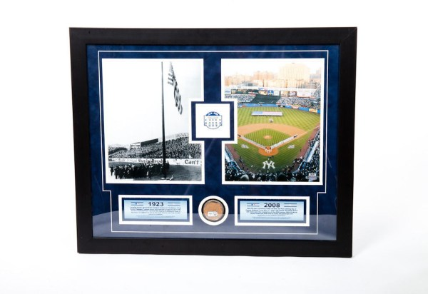 New York Yankees MLB 1923-2008 Collage Authentic Dirt Yankee Stadium Steiner COA