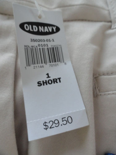 Women;s Old Navy Stretch Beige Pants Short Size 1 Just Below Waist 4 Pocket NWT