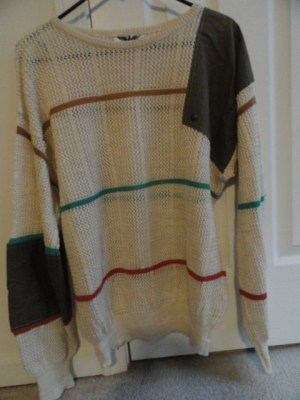 Men'sVintage Camilo Sweater Made In Italy L  Beige Preowned Excellent Cond