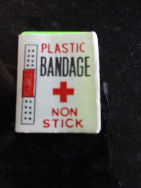 "Vintage 60's Doll House Miniature Barbie Plastic Bandage Non Stick 1"" x 1 1/2"""
