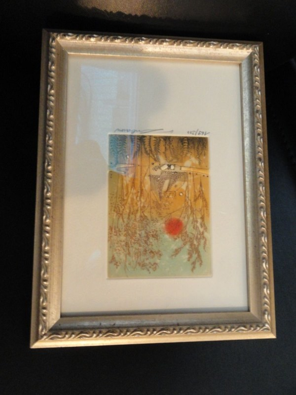 Vtg 1981 Renee Lubarow Etching Hand Printed  Paris Edition Limited 169/300 COA