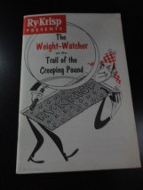 "Vtg Cookbook Pamphlet Ry-Krisp Presents The Weight-Watcher ""Classic"" 1956 USA"