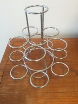 "Cupcake Metal Stand Holds 12 Cupcakes 8"" Tall 2"" Cup New No Box"