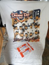Detroit Tigers MLB T-Shirt  Tickets Craig Monroe 2007 Opening Day Comerica Pk