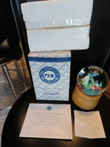 "Princess Cruise 1995 Musical Water Globe ""le Mer"" The Captain's Circle MIB"
