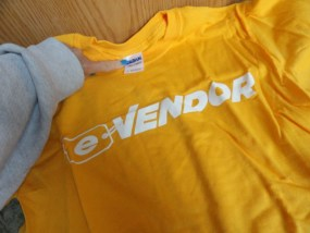 EBAY LIVE 2008 Chicago New E-Vendo T-Shirt Gildan Ultra Cotton Small