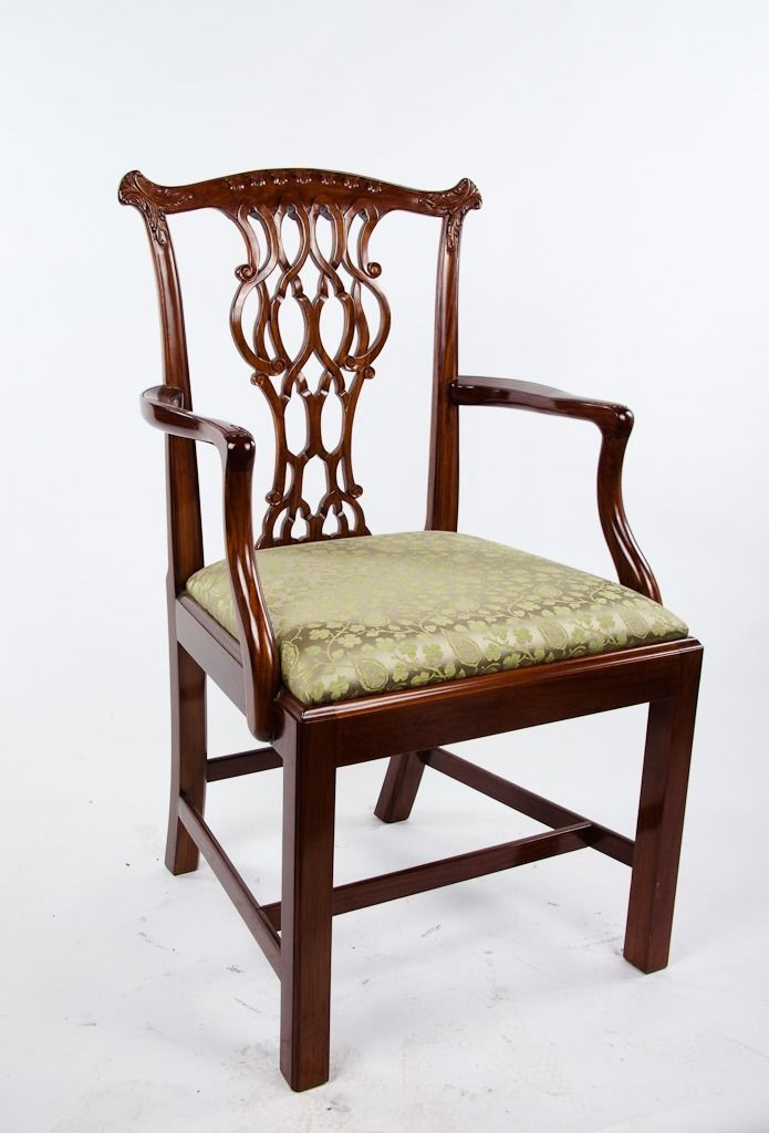 Scully U0026 Scully Classic Side Chair Handmade Carved Solid Rosewood Silk  Covered