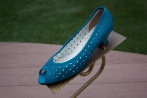 """Women's BALENCIAGO Leather Square Cut Out Turquoise Pumps Shoes 6M 1"""" Heel Italy"""