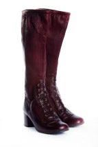 Vtg Women's 70's Degas CALZADO ELDA CHIERNO SFA Spain Leather Boots Maroon 5 M