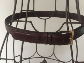 Brown Canturbury Glove Leather Female Belt Taiwan R.O.C. Soldid Brass Buckle