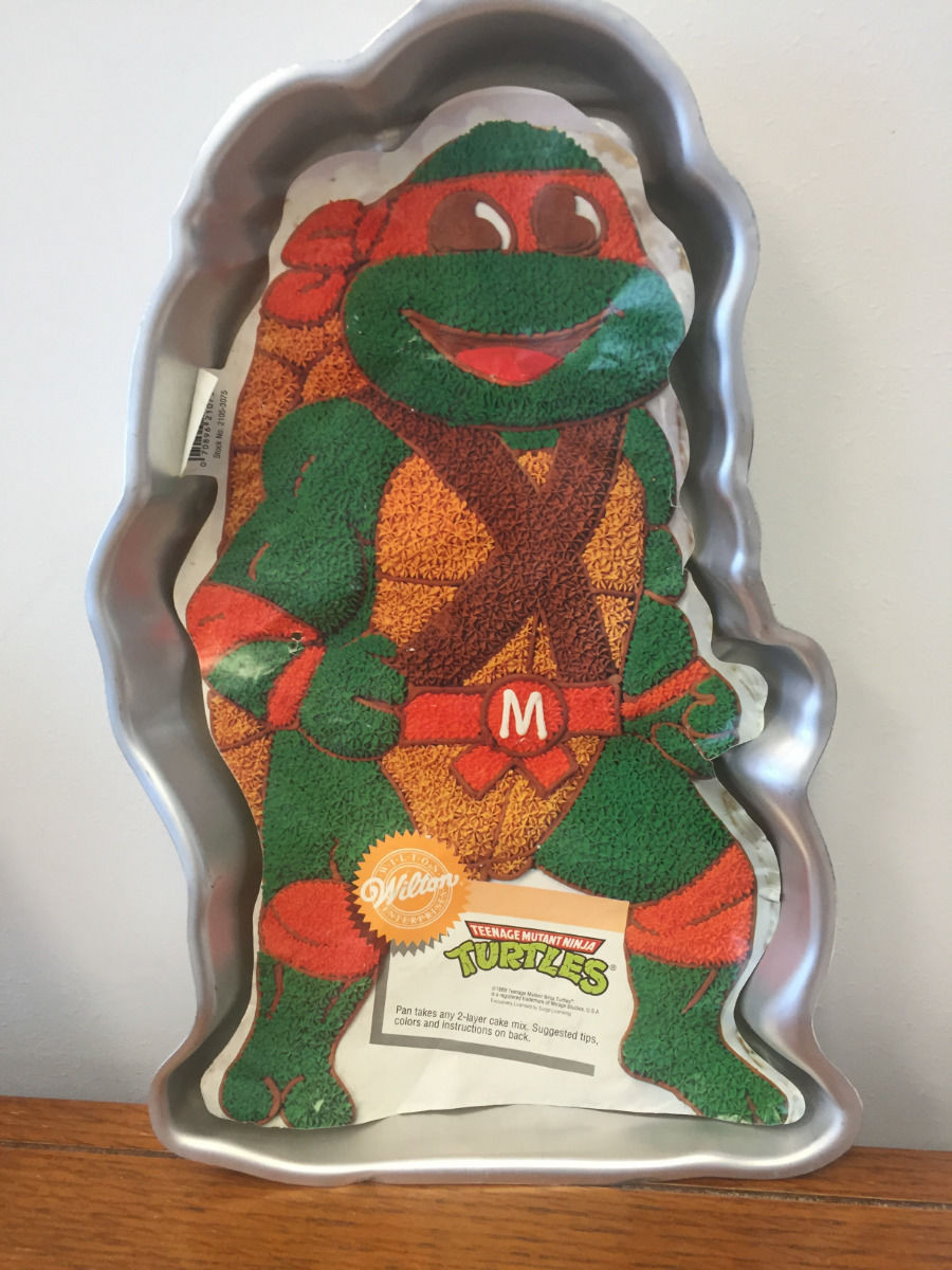 Vintage 1989 Wilton Teenage Mutant Ninja Turtle Cake Pan