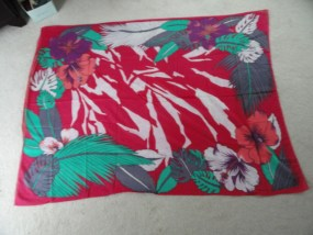 Vintage 1970's Floral Oversize Scarf Wrap Made in Italy for Betmar RN 28993