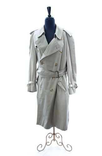 Men's Burberry Fully Lined Coat Made In England 42 SHT Cotton Preown Ex  Cond