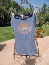HOLLISTER CO. Pacific Merchandise Blue Top Blouse Large 100% Cotton California