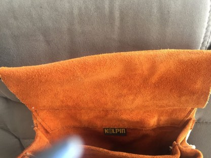 Vtg 1970's Kolpin Suede Hunting Bag Waist Belt Deluxe Shell Bag No 21782 NWOT