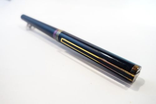 Vintage S.T. Dupont 925 Fountain Pen 18K Nib Black Enamel Sterling Silver Used