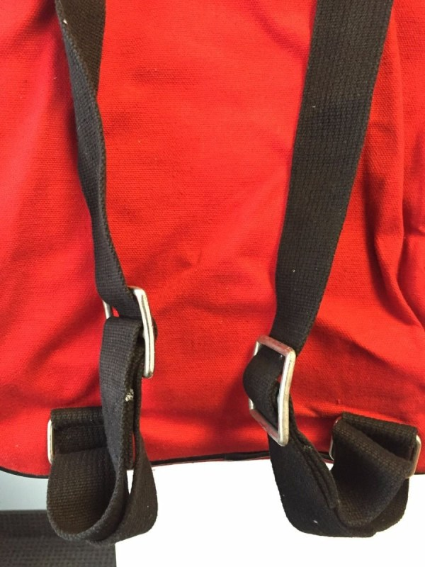 Vtg 1970's DUCK AWAY NEW YORK Red Roller Bag Luggage MADE BY PETER'S IN JAPAN