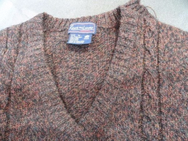 Vtg Men's THE KEATS AND LYFORD ALL PURE WOOL SHETLAND V NECK VEST M