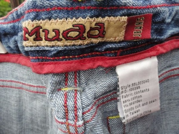 Women's MUDD Jeans Beautiful Colorful Stitching Cuffed Ankle Length Size 1 NWOT