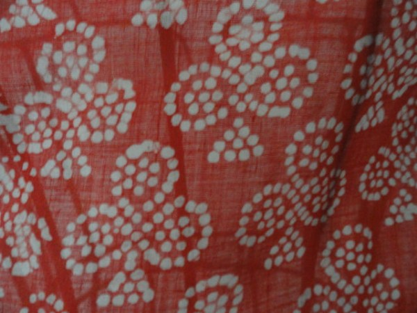 "Vtg 1960's Red & White ""Clubs"" Scarf EXCLUSIVELY FOR INDIA NEPAL Made in Inda"