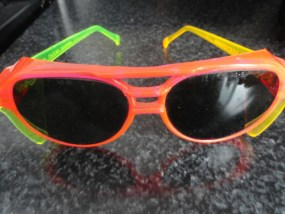 Vintage Eyeglasses Cabot Safety AEROSITE USA Neon Safety Glasses NWOT LM58550-4
