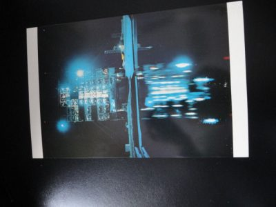 Vtg  60's NASA Postcard Collector's Item 101 Night reflection of gantry & water