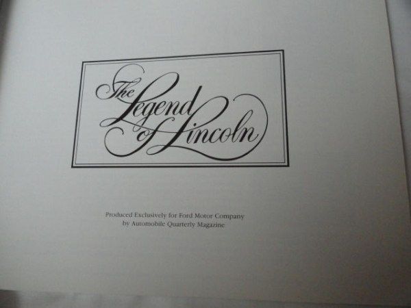 Lincoln Town Car Automobile Collector Book Brochure The Legend Of 39 Pages 1988