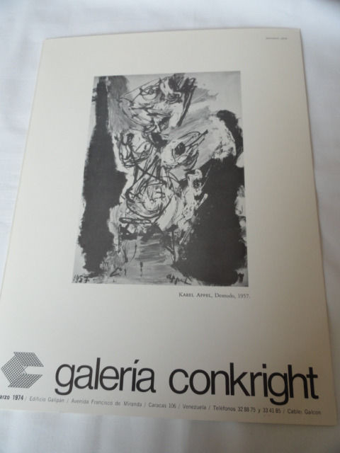 Los Expressionistas art Book Catalog Brochure Galeria Conkright 1974