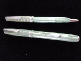 Vintage Esterbrook Green Fountain Pen & Pencil Set No 2668 Made In USA Used