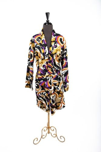 Vtg 70's Men's Psychedelic Ende Amour Robe Made In England London Mod Look M