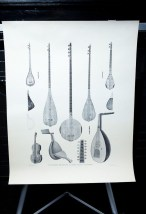 Vtg 1961 Eastern Known String Instruments From Egypt Poster Series SZL III Lucas