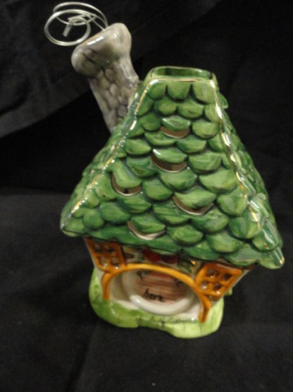 """Blue Skies Clayworks 2009 Heather Goldmine T- Lite Candle Cover """"Welcome Home"""""""