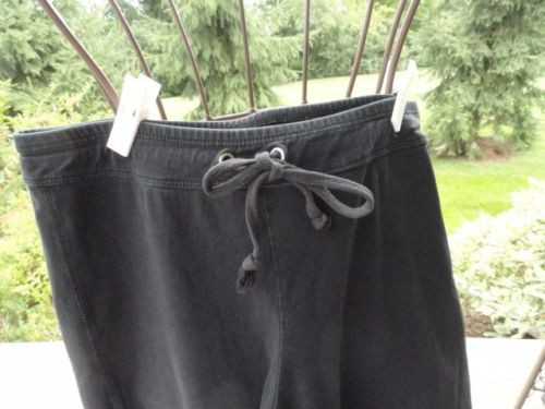 Women's ISLE Black Running Yoga Pants Drawstring Size S Preowned Great Cond