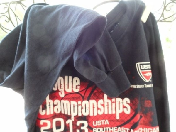Women Tennis USTA League 2013 Championships S E Michigan Long Sleeve Top Blue M