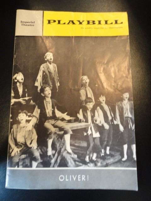 Vtg OLIVER! Aug 5 1963 Playbill Imperial Theatre Goodard Jackman Maura K. Wedge