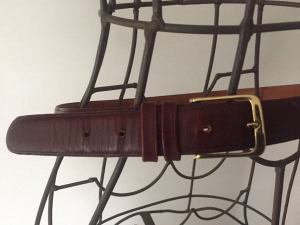 Vintage COACH Cordivan Men's Belt Solid Brass Buckle Finished Cowhide NYC