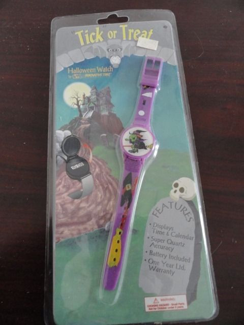 Vintage 1995 Trick or Treat Halloween Watch Innovative Time  Witch On Broom NWT